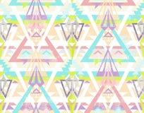 Abstraktes geometrisches nahtloses aztekisches Muster. Lizenzfreies Stockbild