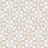 Abstraktes geometrisches nahtloses Muster Brown und weißes Muster mit Linie Lizenzfreie Stockfotos
