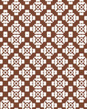 Abstraktes geometrisches nahtloses Muster Brown und weißes Muster mit Linie Lizenzfreies Stockfoto