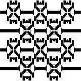 Abstraktes geometrisches nahtloses Muster Dalmatinischer Pelz Lizenzfreies Stockbild