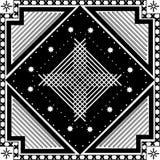Abstraktes geometrisches nahtloses Muster Dalmatinischer Pelz Stockfoto