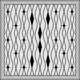 Abstraktes geometrisches nahtloses Muster Dalmatinischer Pelz Stockbild
