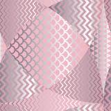 Abstraktes geometrisches nahtloses Muster der Fischschuppe Stockfoto