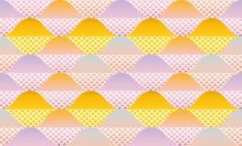 Abstraktes geometrisches nahtloses Muster der Fischschuppe Lizenzfreie Stockfotografie