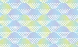 Abstraktes geometrisches nahtloses Muster der Fischschuppe Lizenzfreie Stockfotos