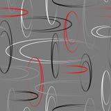 Abstraktes geometrisches nahtloses Muster mit Ellipse Stockfoto