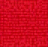 Abstraktes geometrisches nahtloses Muster mit rectagles Rot und Rosa überprüfter Hintergrund Lizenzfreie Stockfotografie