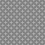 Abstraktes geometrisches nahtloses Muster in Schwarzweiss, Vektor Stockbilder