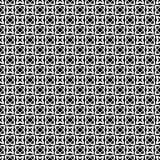 Abstraktes geometrisches nahtloses Muster in Schwarzweiss, Vektor Stockfoto