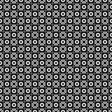 Abstraktes geometrisches nahtloses Muster in Schwarzweiss, Vektor Lizenzfreie Stockfotografie