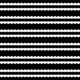Abstraktes geometrisches nahtloses Muster in Schwarzweiss, Vektor vektor abbildung