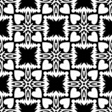 Abstraktes geometrisches nahtloses Muster in Schwarzweiss, Vektor Lizenzfreie Abbildung