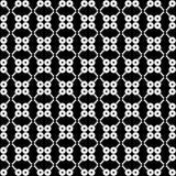 Abstraktes geometrisches nahtloses Muster in Schwarzweiss, Vektor Stock Abbildung