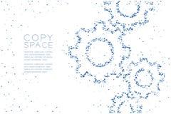 Abstraktes geometrisches Polygon-quadratischer Kasten und Dreieck kopieren Technik-Gangform, blaues illus Farbe des Teamwork-Syst lizenzfreie abbildung