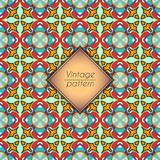 Abstraktes geometrisches Retro- nahtloses Muster Es kann für Leistung der Planungsarbeit notwendig sein Stockfotografie