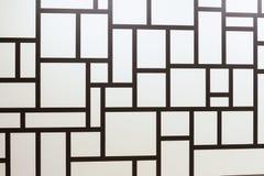 Abstraktes geometrisches Schwarz- und whithemuster Stockbild
