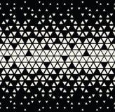 Abstraktes geometrisches Schwarzweiss-Grafikdesigndreieck-Halbtonmuster vektor abbildung