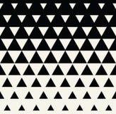 Abstraktes geometrisches Schwarzweiss-Grafikdesigndruckdreieck-Halbtonmuster vektor abbildung