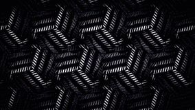 Abstraktes geometrisches Schwarzweiss-Muster Lizenzfreie Stockfotografie