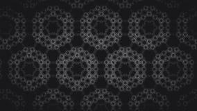 Abstraktes geometrisches Schwarzweiss-Muster Stockfotografie