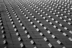 Abstraktes geometrisches Schwarzweiss-Muster Stockbild