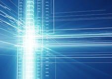 Abstraktes geometrisches Technologiegestaltungselement Lizenzfreies Stockbild