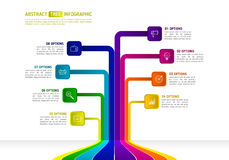 Abstraktes Geschäft Infographics in der Baumform Baum infographic Stockfoto