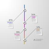 Abstraktes Geschäft infographics Element Stockbild