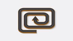 Abstraktes Geschäft infographics in Form einer Automobilstraße Lizenzfreie Stockfotos