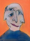 Abstraktes Gesicht lizenzfreie abbildung