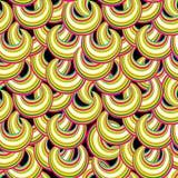 Abstraktes gestreiftes nahtloses Muster Blase Ornamentalhintergrund Stockfotos