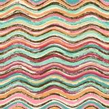 Abstraktes gewelltes nahtloses Muster Lizenzfreies Stockfoto