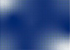 Abstraktes glänzendes Halbton Dots Pattern im blauen Hintergrund lizenzfreie abbildung