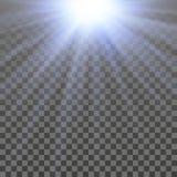 Abstraktes glänzendes Licht Stockfotografie