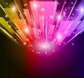 Abstraktes Glühen der Leuchten für Geschäfts-Flugblätter Stockfoto