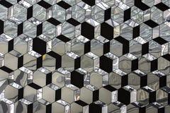 Abstraktes Glas kristallisiertes Spiegelmuster Stockbild