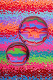 Abstraktes Glas u. Farben stockbild