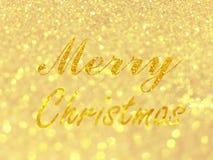 Abstraktes Gold-bokeh kreist für Weihnachtshintergrund, Funkelnli ein Stockfotografie