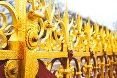 abstraktes Gold in englan London und im Hintergrund Stockbild