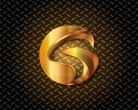 Abstraktes Gold Logo Vector Lizenzfreies Stockfoto