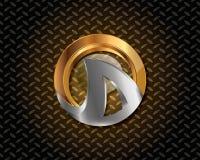 Abstraktes Gold Logo Vector Stockfotos