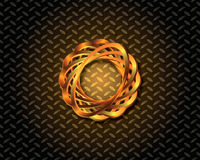 Abstraktes Gold Logo Vector Lizenzfreies Stockbild