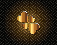 Abstraktes Gold Logo Vector Lizenzfreie Stockfotografie