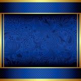 Abstraktes Gold und blaues Menü stock abbildung