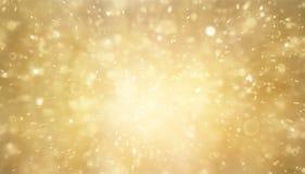 Abstraktes Gold und helles Funkeln für Hintergrund Stockfotografie