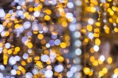 Abstraktes Gold und purpurroter bokeh Hintergrund Weihnachten-bokeh Licht Lizenzfreie Stockbilder