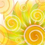 Abstraktes Gold wirbelt Hintergrund vektor abbildung
