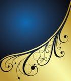 Abstraktes Goldblumenfahne Stockfoto