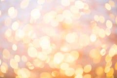 Abstraktes Goldbokeh Weihnachts- und des neuen Jahresthemahintergrund Stockfotografie