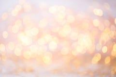 Abstraktes Goldbokeh Weihnachts- und des neuen Jahresthemahintergrund Lizenzfreie Stockfotografie